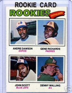 The 'Hawk' Andre Dawson - 1977 rookie card