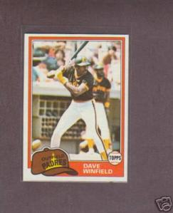 1981 Topps Dave Winfield