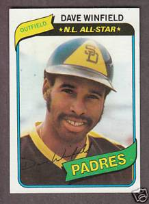 1980 Topps Dave Winfield