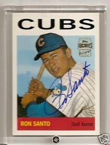 Cub's superstar Ron Santo