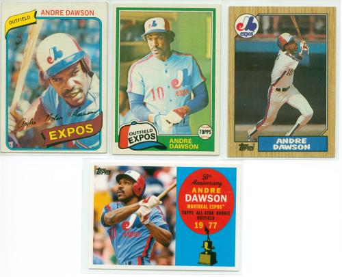 4 sweet Dawson cards from his days with the Expos!!