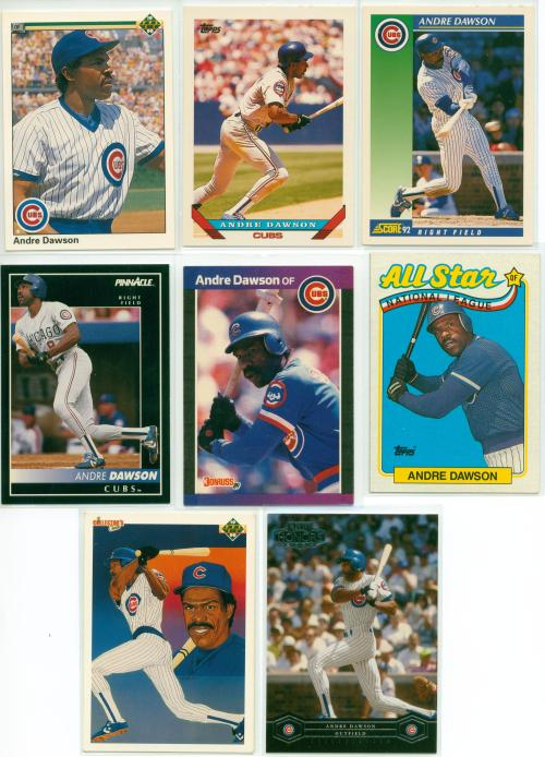 And 8 beautiful cards of Andre wearing that Good Old Cubbie Blue!!!