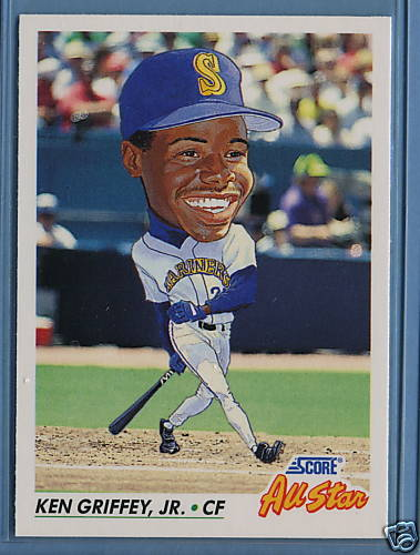 Ken Griffey Jr Has Been An All Star 13 Times 30 Year Old Cardboard