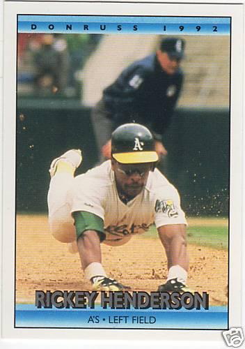 Baseball Card Companies Love Rickey Henderson 30 Year
