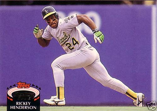 Rickey Henderson Collection 30 Year Old Cardboard Page 3
