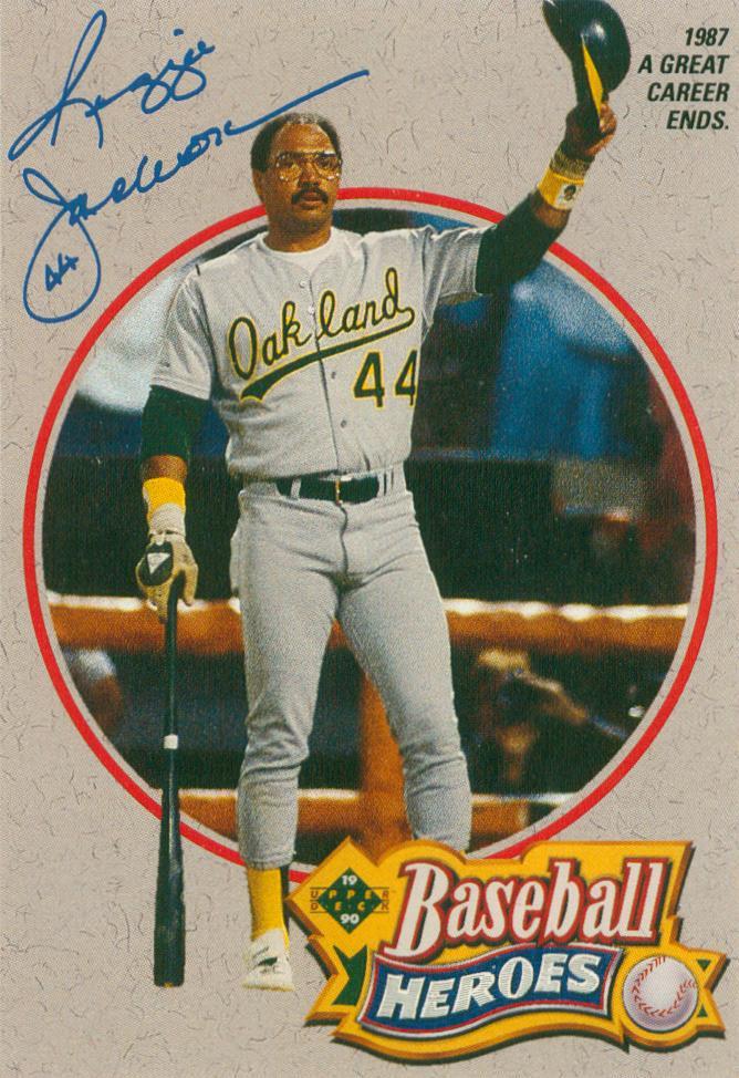 1990 Upper Deck Baseball Heroes Reggie Jackson Subset Card