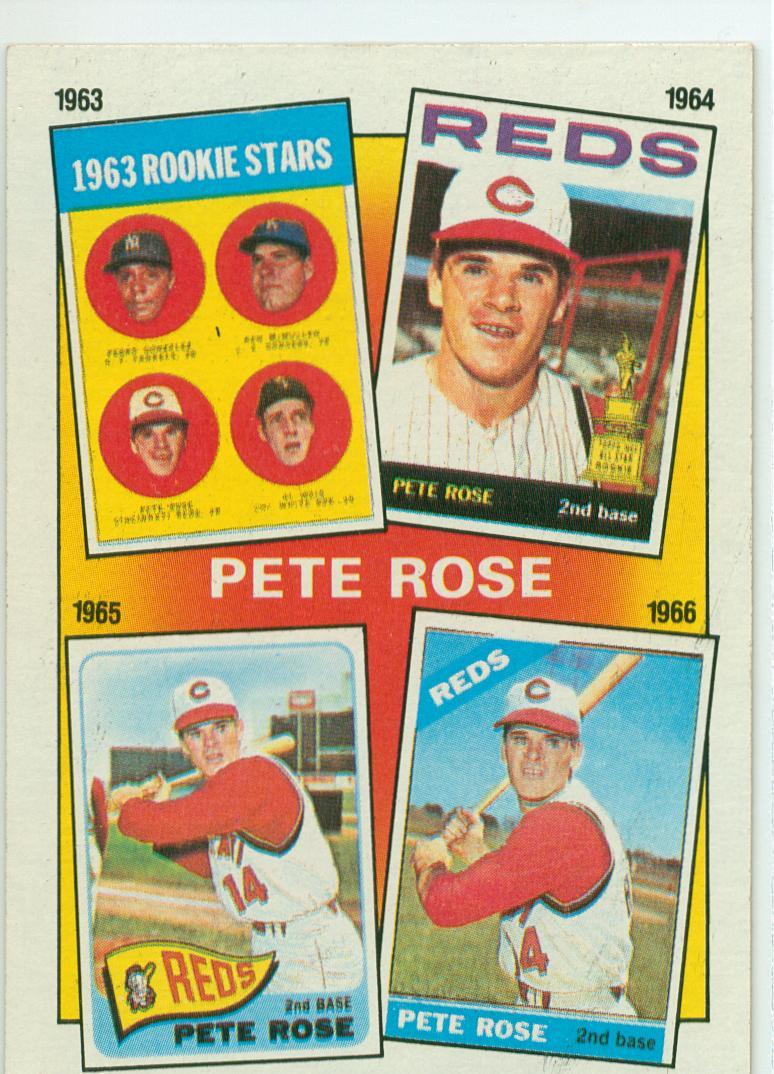 1986 Topps Pete Rose Subset Card 2 1963 66 30 Year