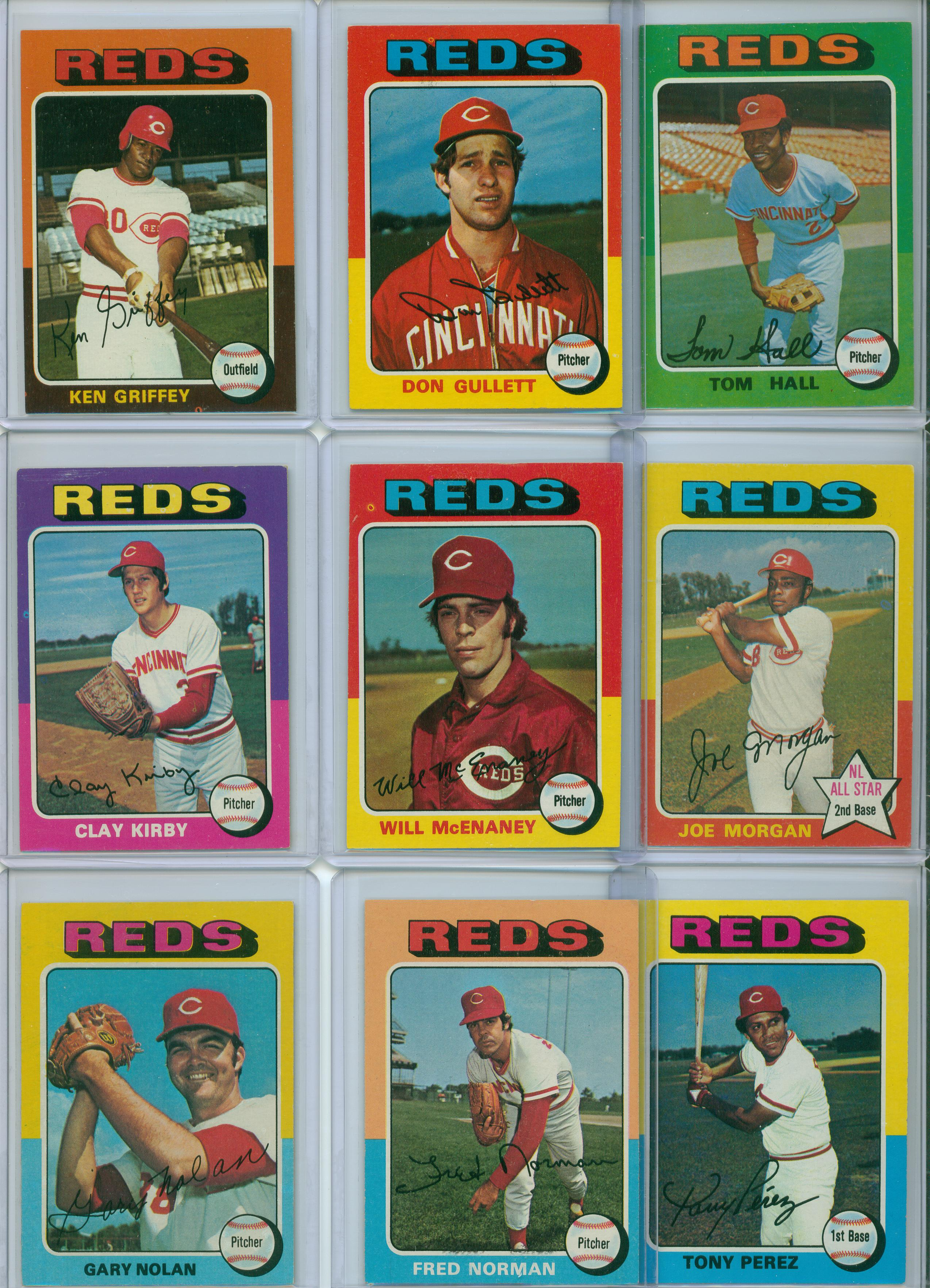 1975 Cincinnati Reds Team Set 30 Year Old Cardboard