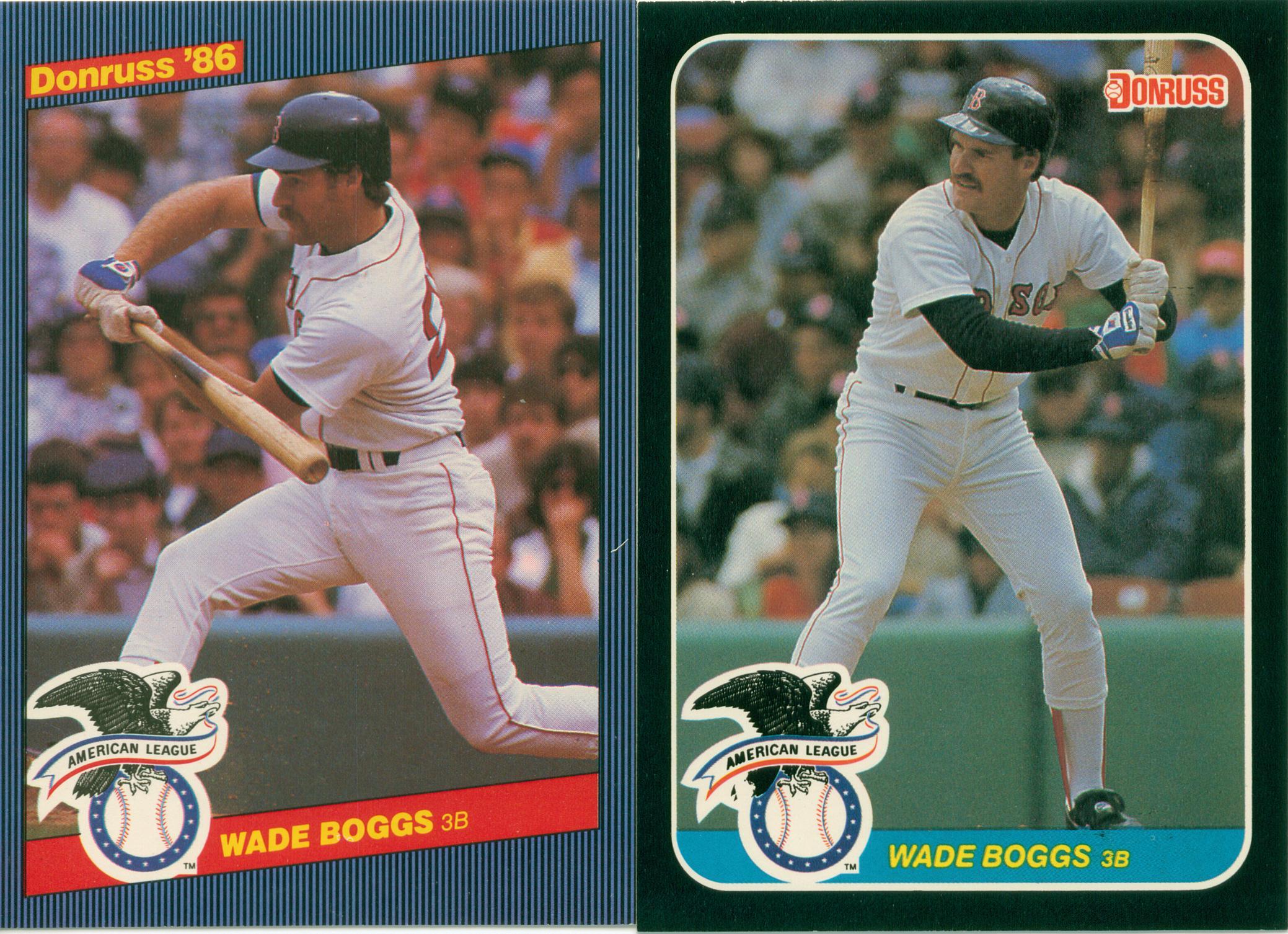 Wade Boggs 1986 1987 Donruss Jumbo All Star Cards 30