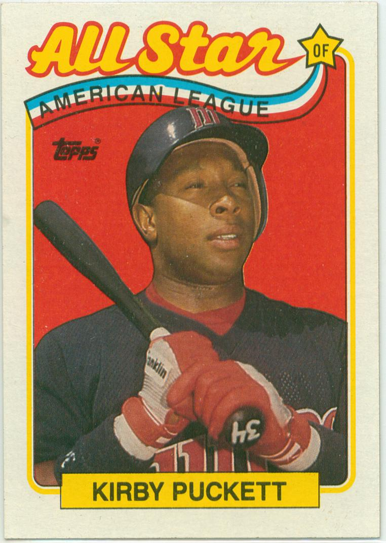 Kirby Puckett 1989 Topps All Star 30 Year Old Cardboard