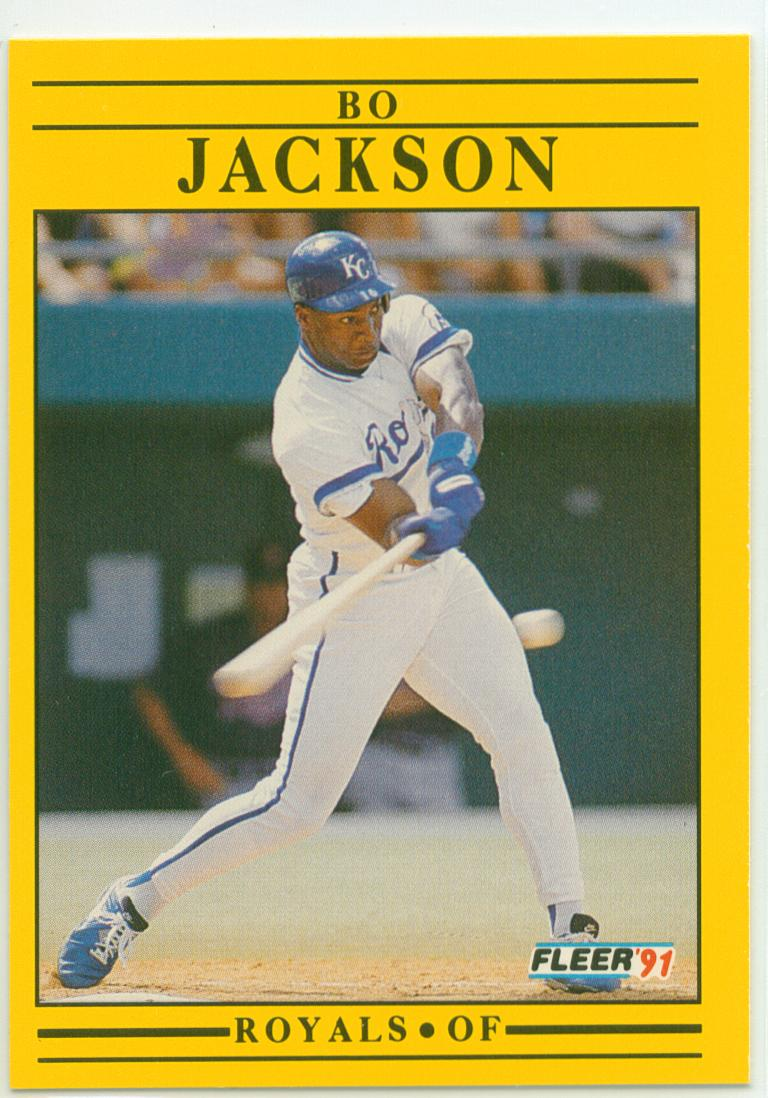 Bo Jackson 1991 Fleer 30 Year Old Cardboard