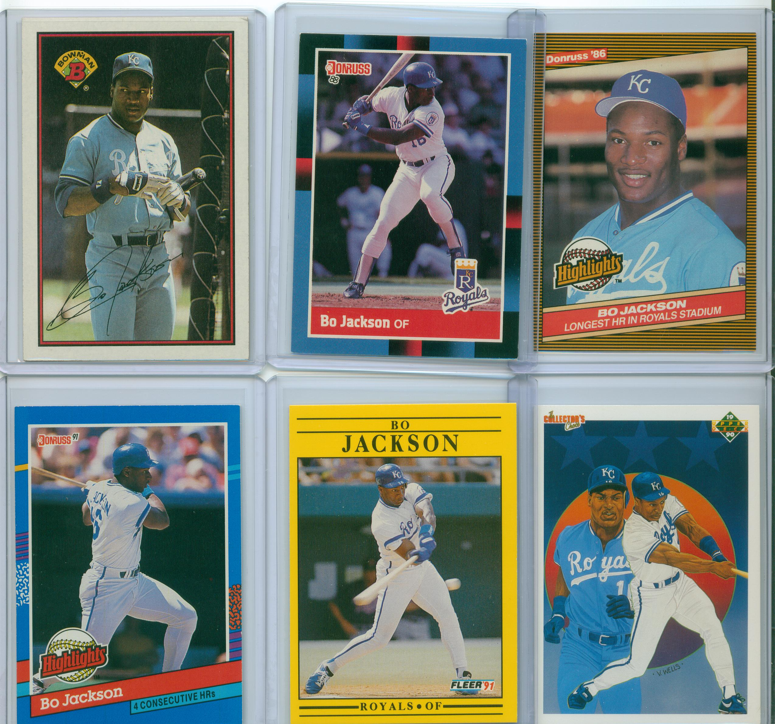 Image result for bo jackson card collection