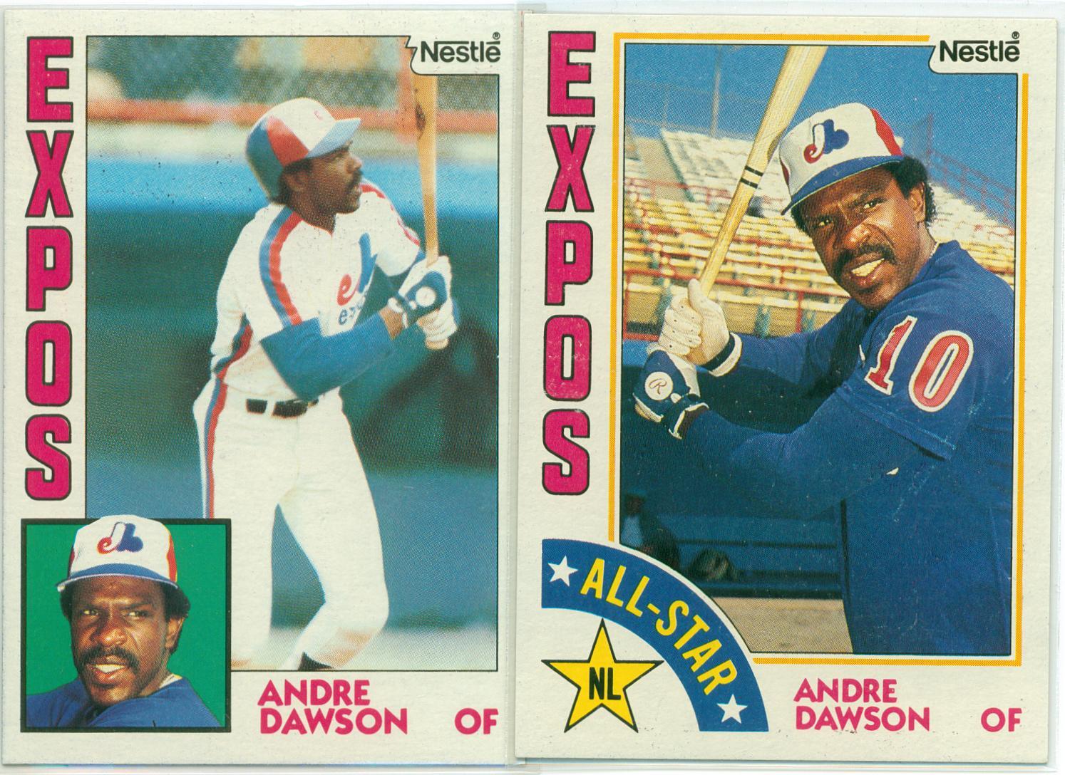 Andre Dawson 1984 Nestle Baseball Cards Base All Star
