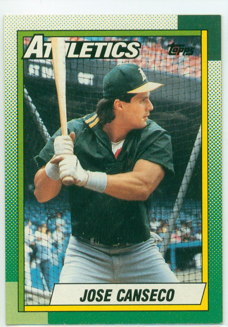 Jose Canseco 1990 Topps The Batting Practice Card 30
