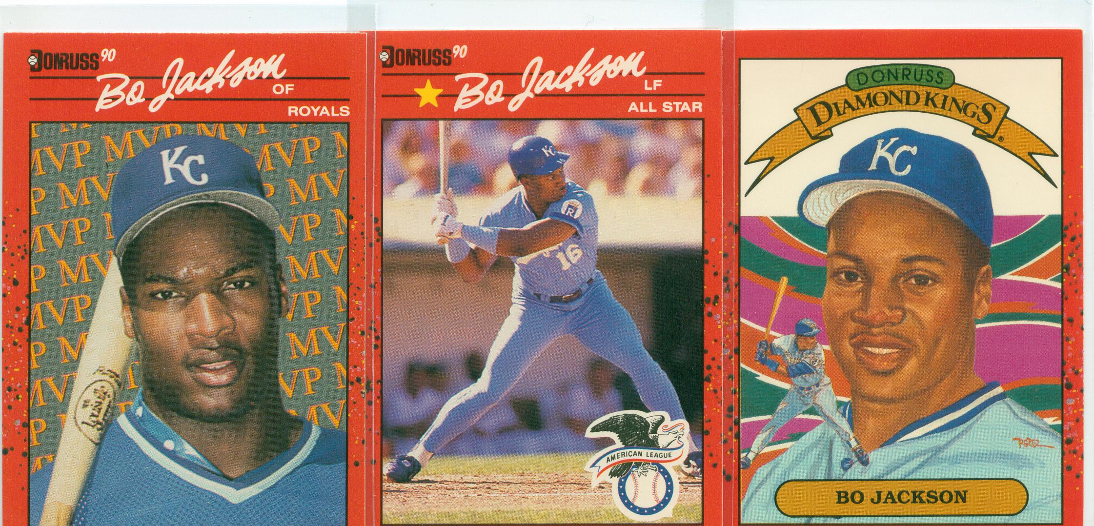 A Trio Of 1990 Donruss Bo Jackson Baseball Cards 30 Year Old
