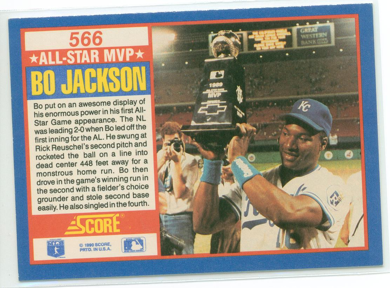 Bo Jackson 1990 Score All Star Game Commemorative Card