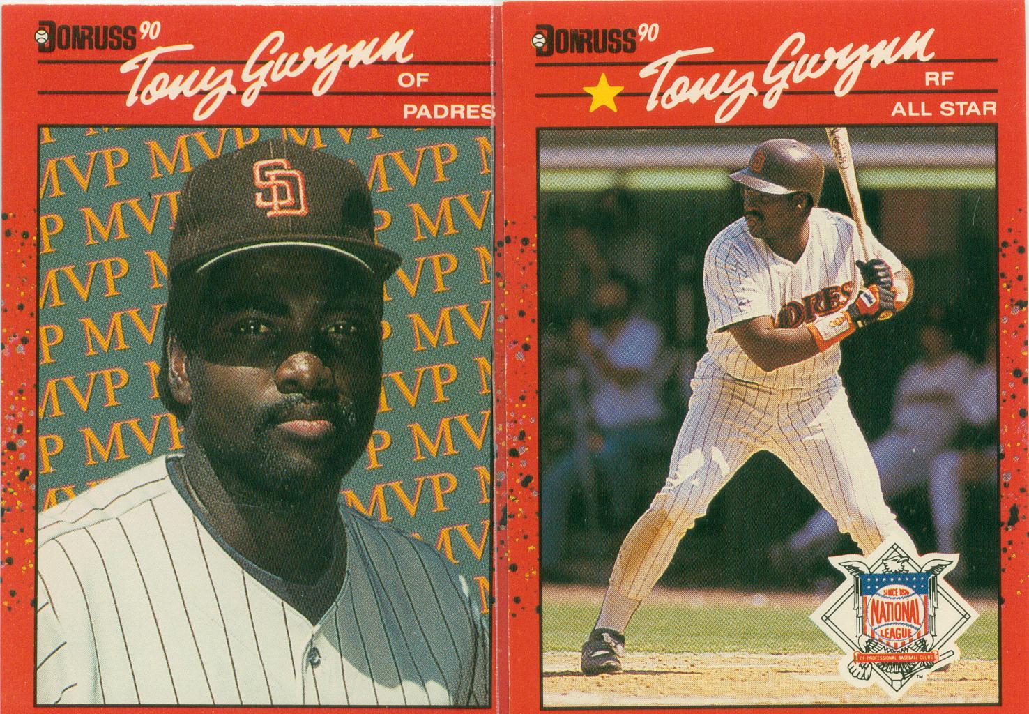 Tony Gwynn 1990 Donruss Pair Mvp All Star 30 Year Old