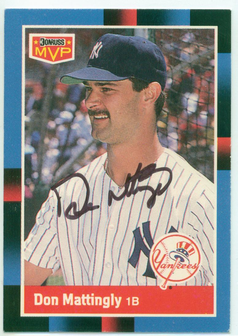 Fake Don Mattingly Autographs 30 Year Old Cardboard