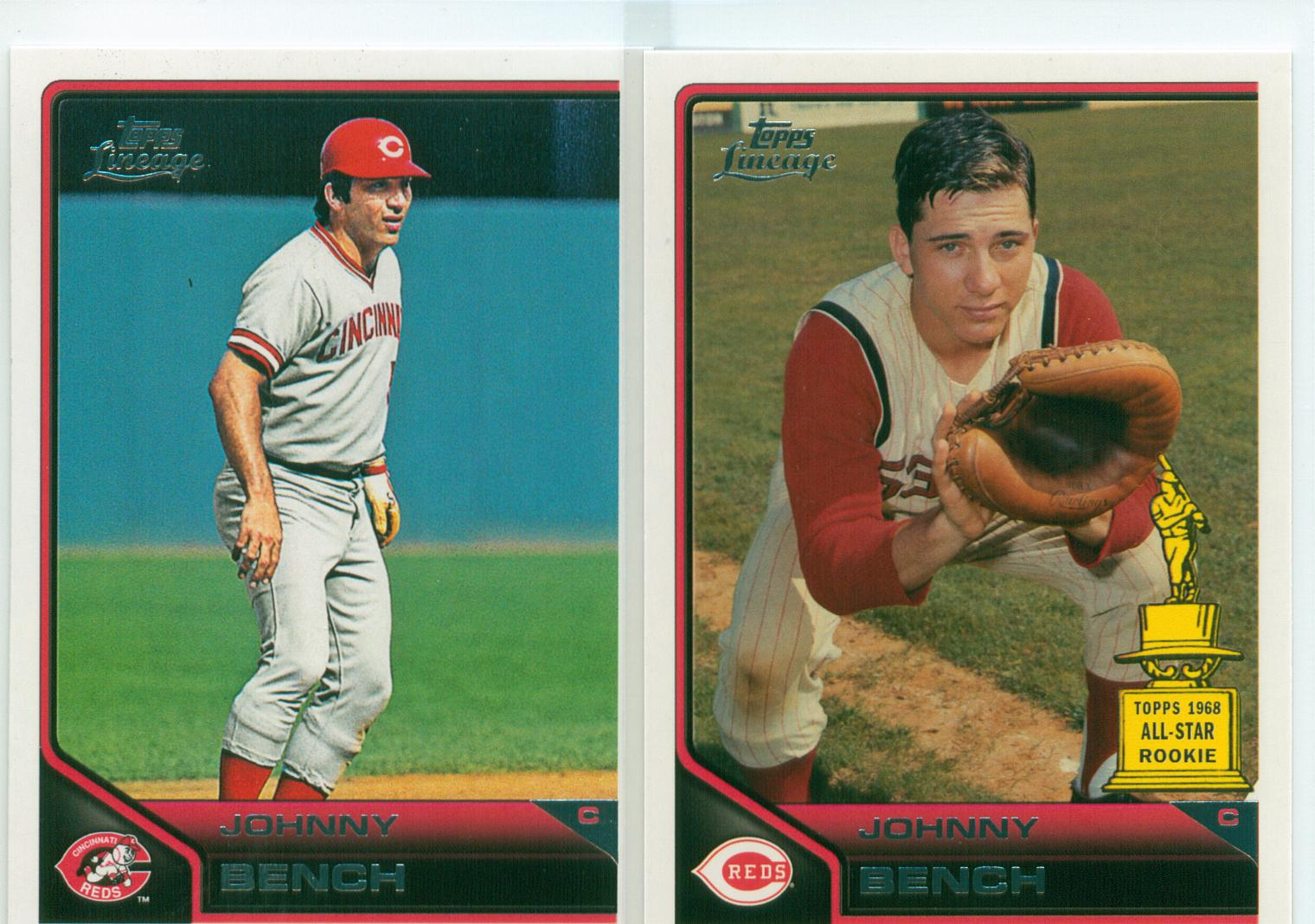 Johnny Bench Collection 30 Year Old Cardboard Page 14