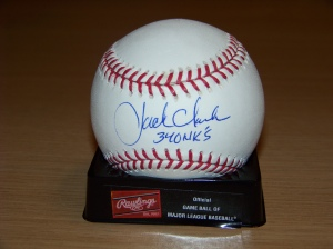 Clark has a pretty sweet autograph, huh?? And for a slugger, his