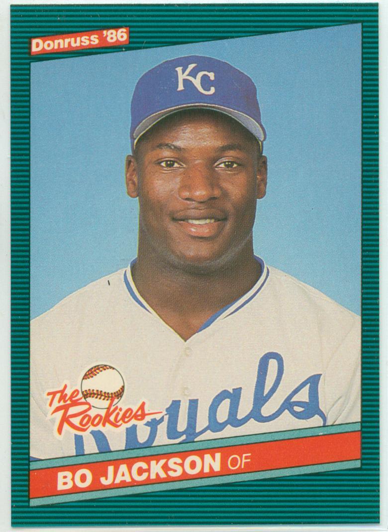 Bo Jackson 1986 Donruss The Rookies 30 Year Old Cardboard