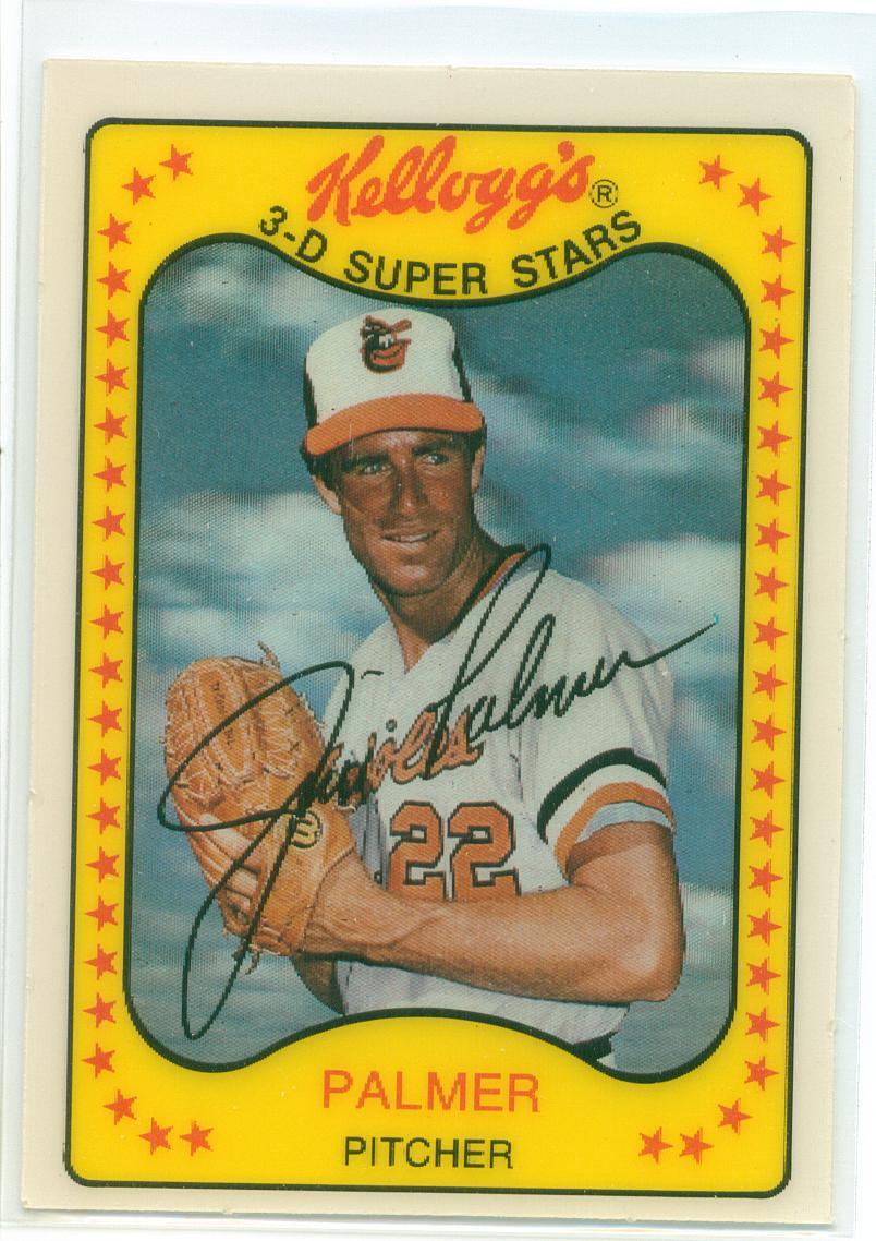 Jim Palmer 1981 Kelloggs 3 D Super Stars 30 Year Old