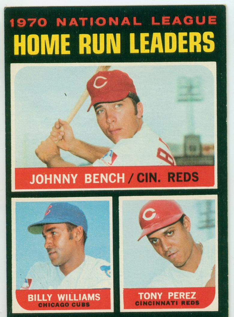 Tony Perez 1971 Topps League Leaders W Johnny Bench
