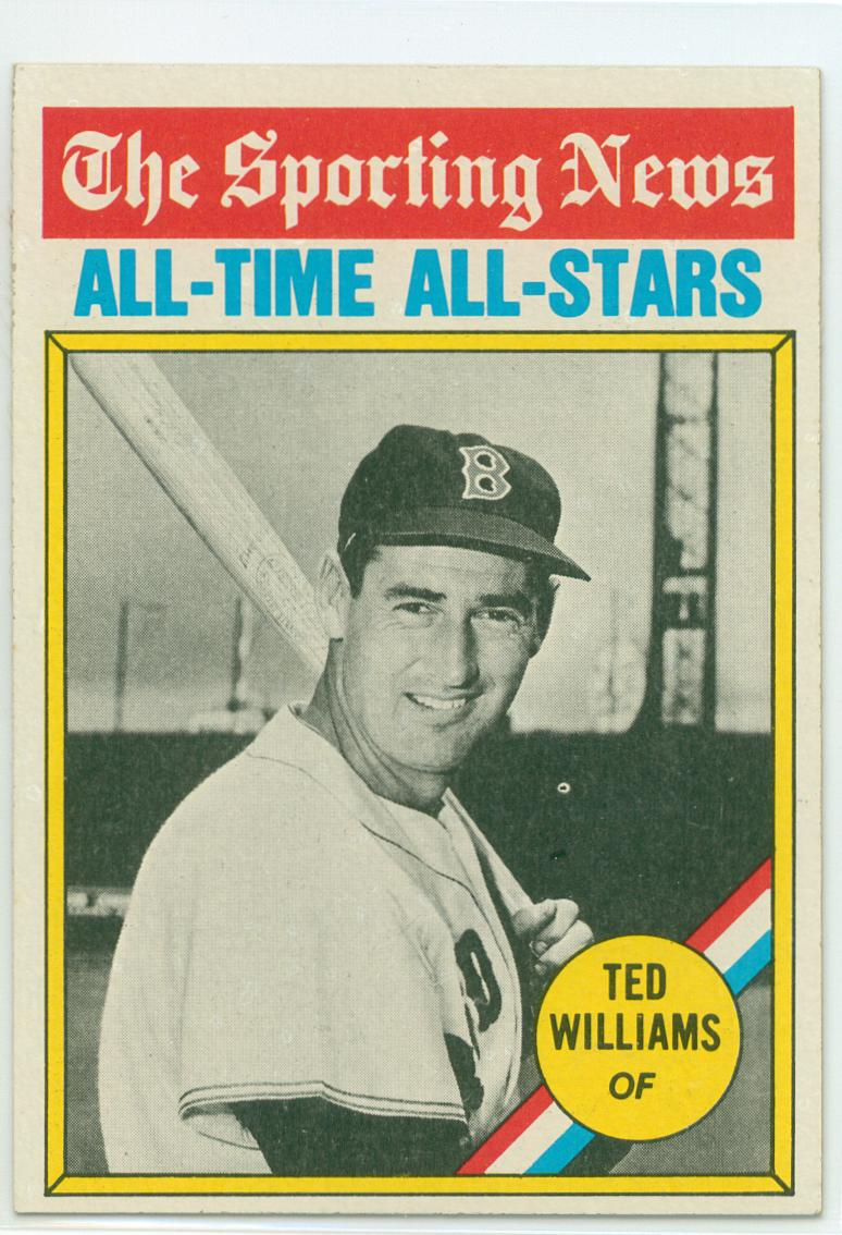 baseball card show purchase 9 ted williams 1976 topps. Black Bedroom Furniture Sets. Home Design Ideas