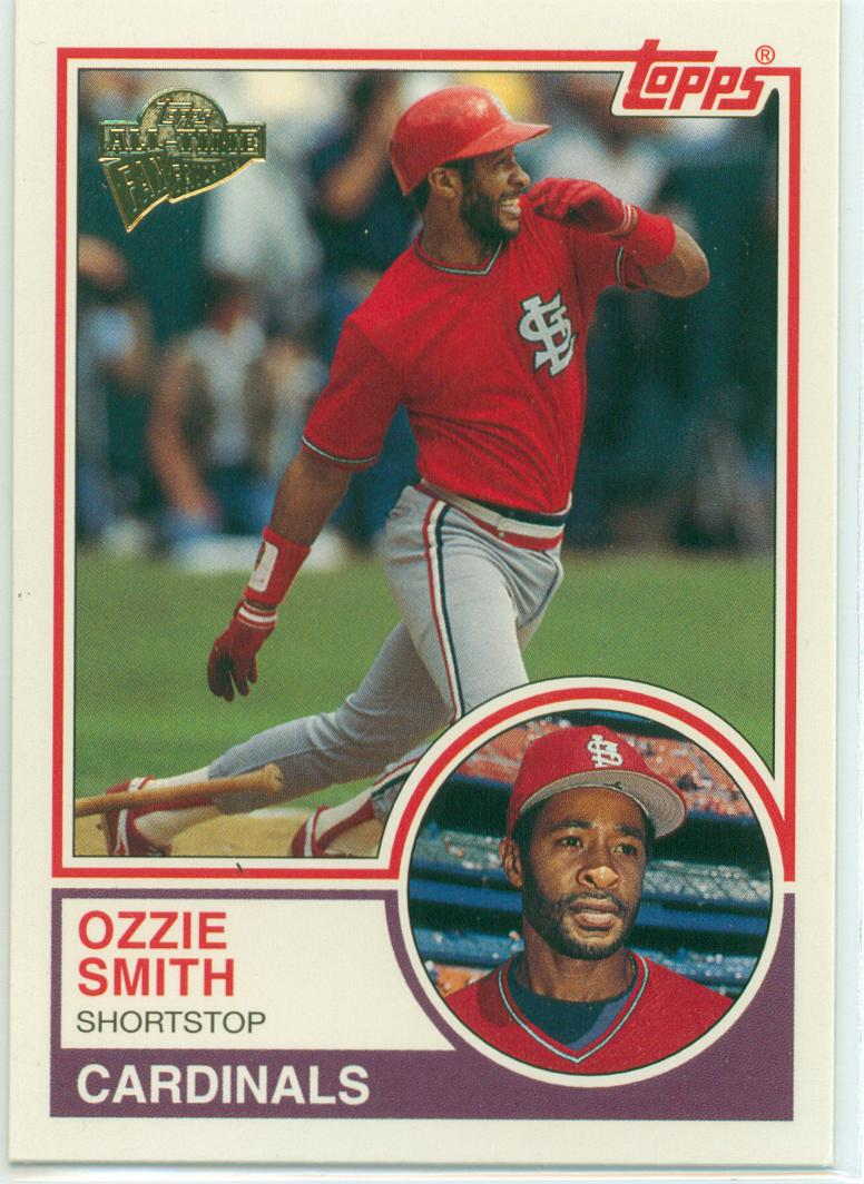 Ozzie Smith Collection 30 Year Old Cardboard Page 6