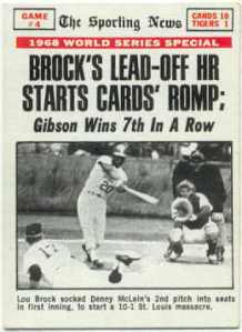 Lou Brock And The 1964 1967 World Series Championships