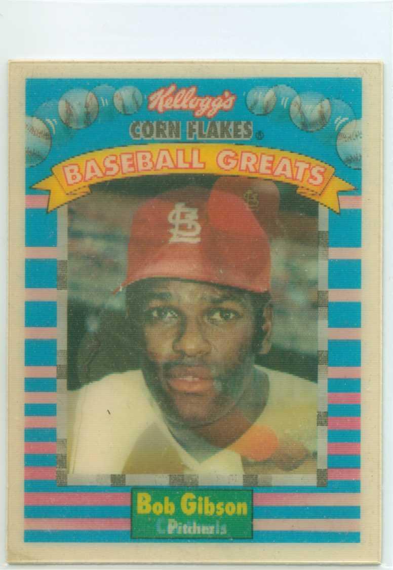 Bob Gibson 1991 Kelloggs Corn Flakes Baseball Greats 30
