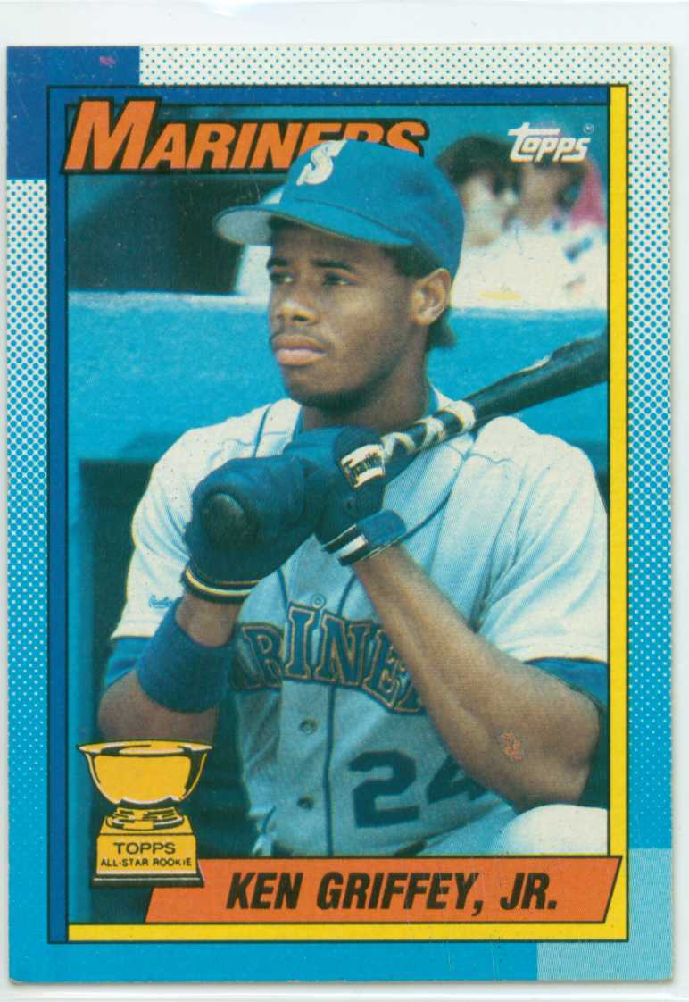 Ken Griffey Jr 1990 Topps All Star Rookie Card 30 Year Old Cardboard