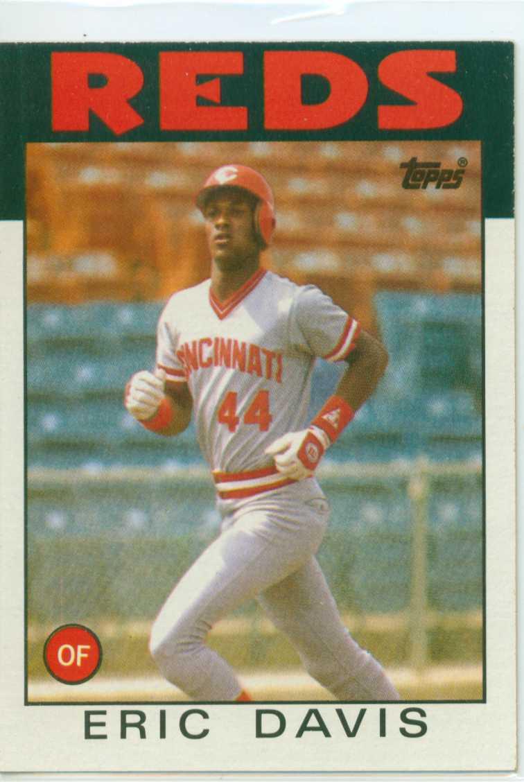 Eric Davis 1986 Topps 30 Year Old Cardboard