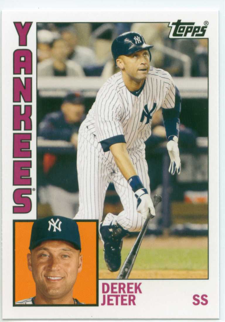 Derek Jeter 2012 Topps Archives 1984 Topps Design 30 Year Old