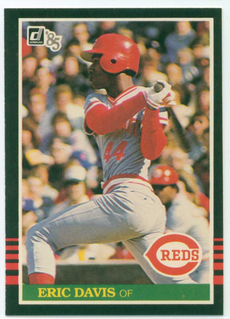 Eric Davis 1985 Donruss Rookie Card 30 Year Old Cardboard