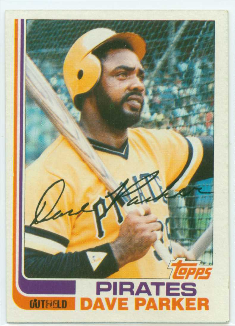 Dave Parker 1982 Topps Batting Cage Card 30 Year Old