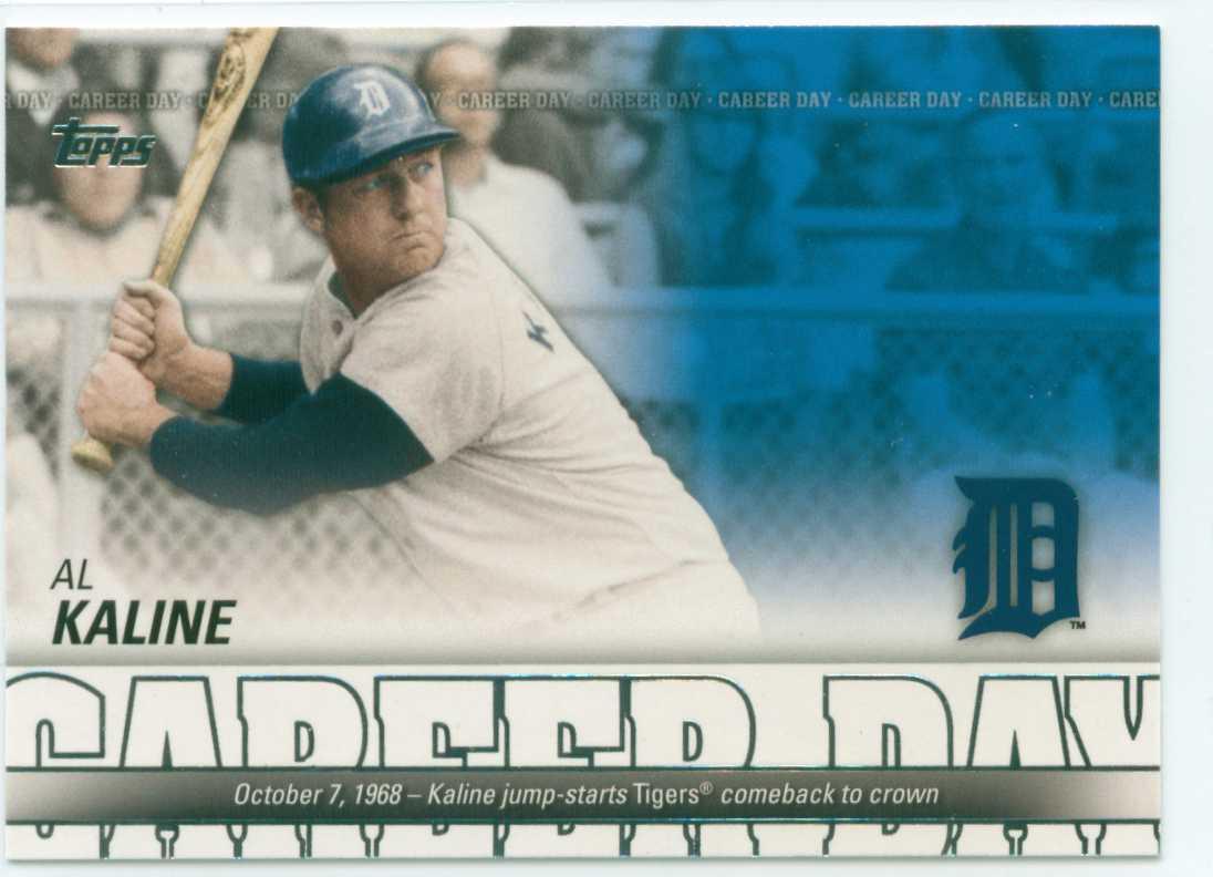 2012 Topps Career Day Subset Card 3 Al Kaline Detroit