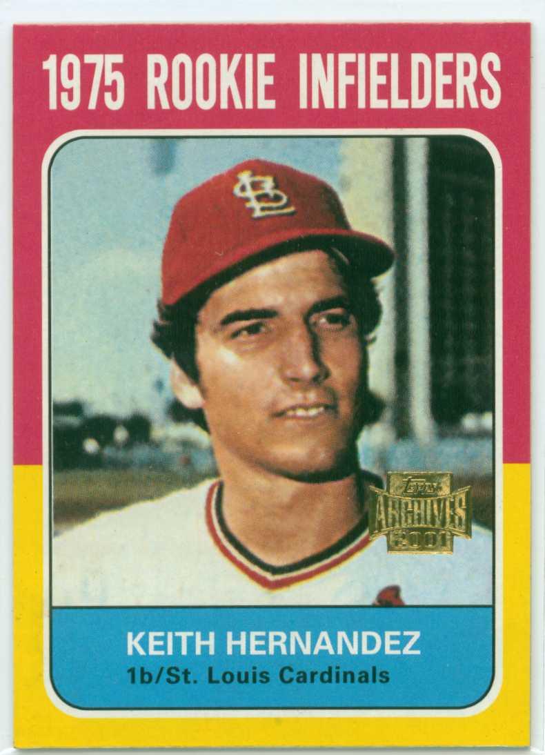 Keith Hernandez 2001 Topps Archives 1975 Topps Design 30