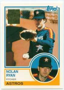 Nolan Ryan 1999 Topps Commemorative Set Card 16 1983