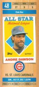 DAWSON COMMEM TICKET 88 AS