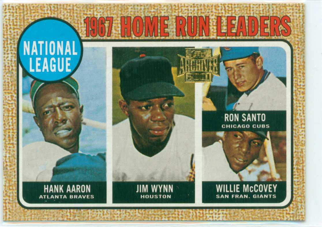 2001 topps archives 1967 nl home run leaders starring