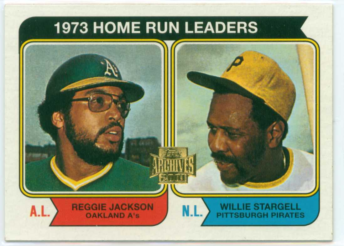 2001 topps archives 1974 topps league leaders card
