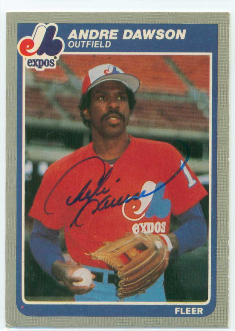 Andre Dawson Autographed 1985 Fleer Baseball Card 30 Year Old