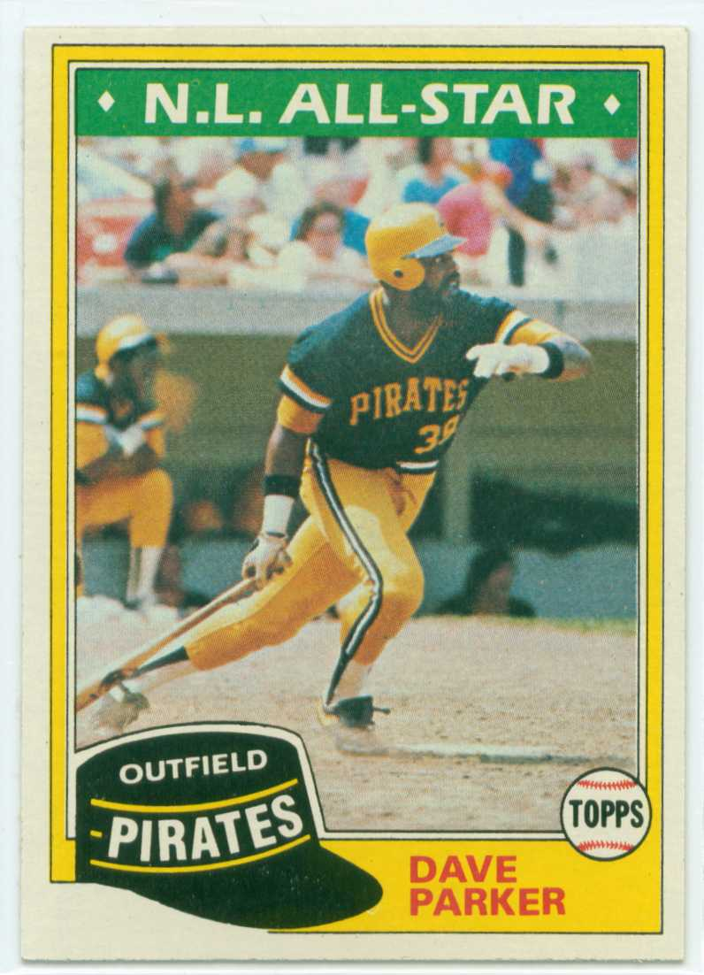 Dave Parker Fab Five Card 1 1981 Topps 30 Year Old