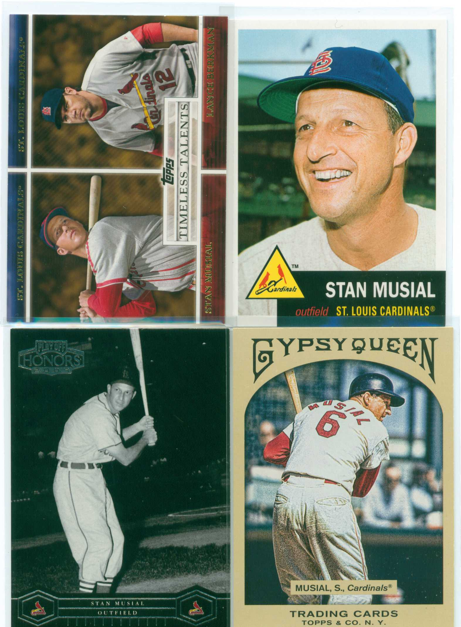 Baseball Card Show Purchase 1 Lot Of 4 Modern Stan Musial