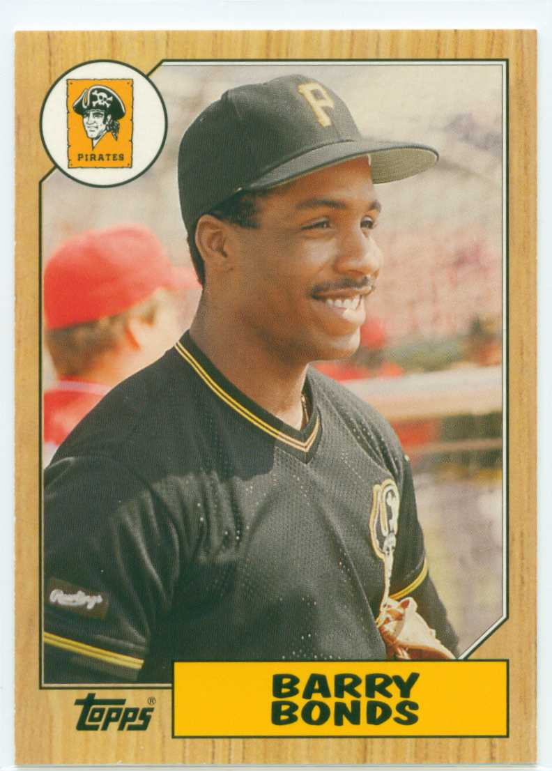 Barry Bonds 2006 Topps Rookie Of The Week 1987 Topps Design 30