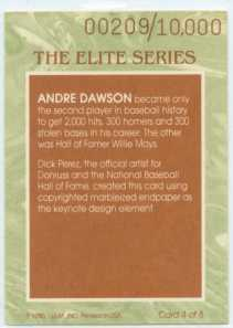 DAWSON 1991 DONRUSS ELITE BACK