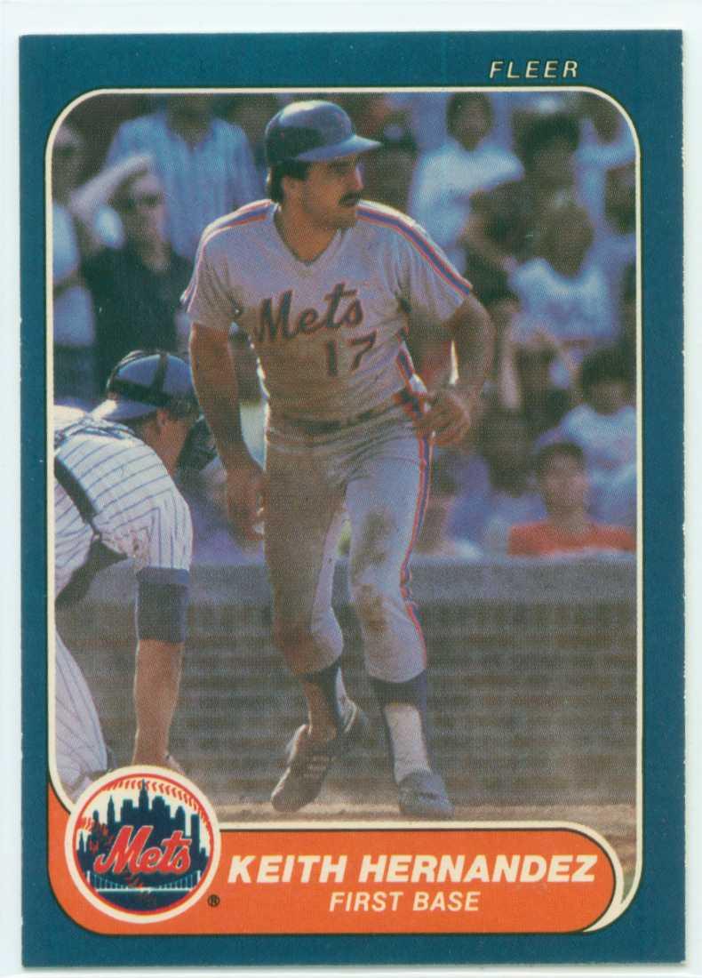 Keith Hernandez 1986 Fleer Love The Dirt 30 Year Old