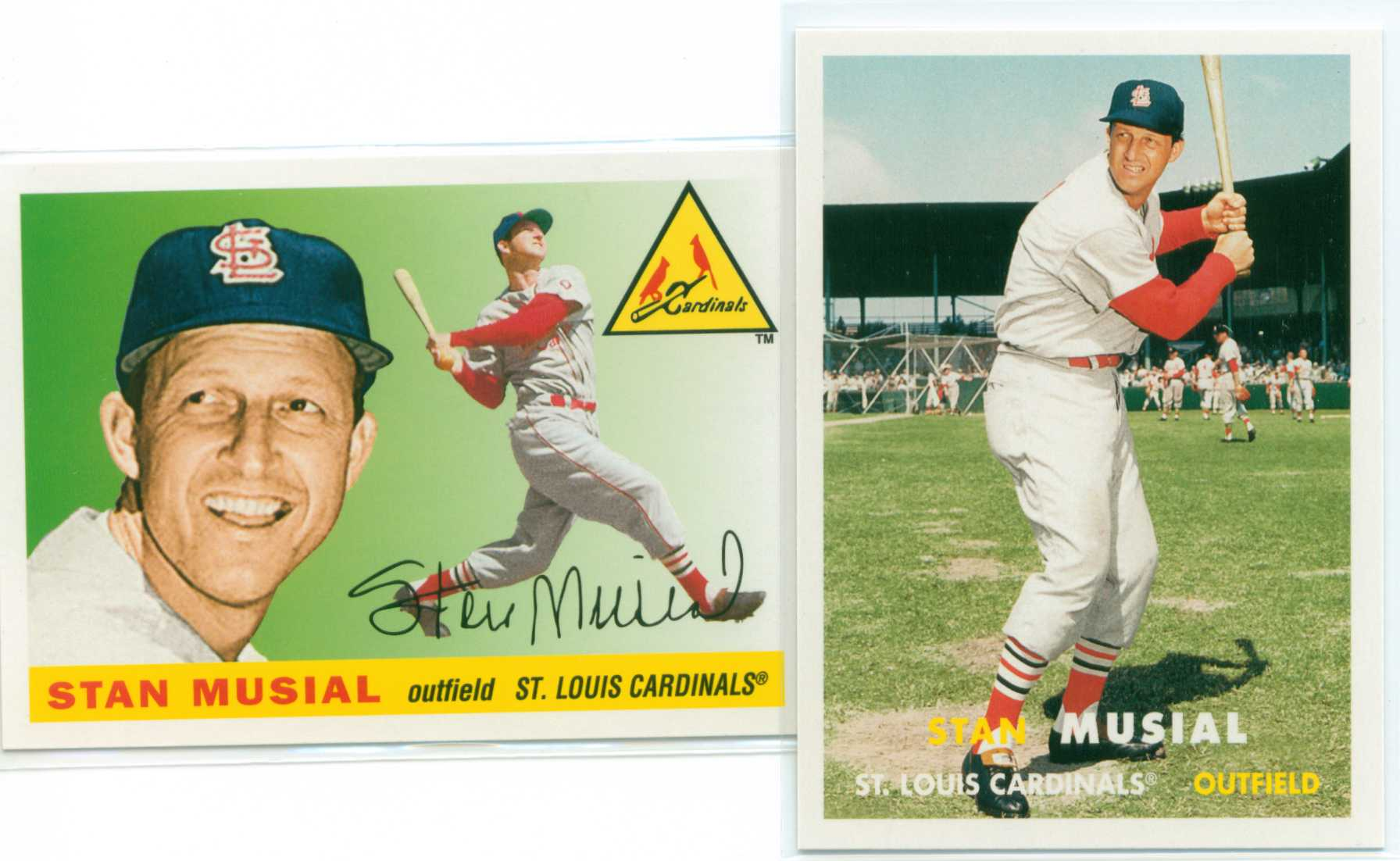 Baseball Card Show Purchase 3 Lot Of Two Stan Musial 2011 Topps