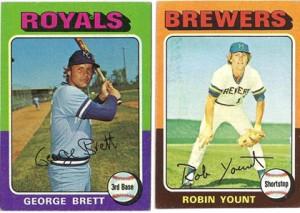 1975 Topps Brett.Yount